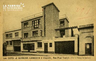 Cl 08 150 Caen les Cafés et Bonbons LANGEVIN rue Paul Toutain (près le