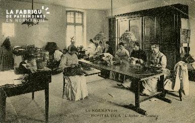 Cl 08 174 Caen Hôpital Civil l'Atelier de Couture