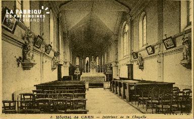 Cl 08 196 Caen Hôpital de Caen Intérieur de la Chapelle
