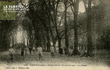 Cl 08 198 Caen Hôpital Mixte un coin du Parc  les Blessés