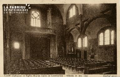 Cl 08 201 Caen Eglise St Jean Eudes en construction Tribune et Bas côt