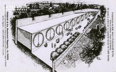 Cl 08 205 Caen Installation de MM. Albert Guillouet et Fils vins et Ci