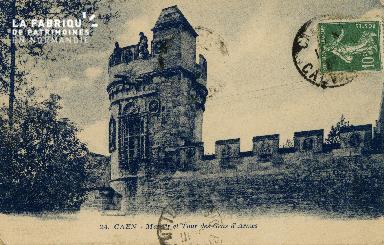 Cl 08 218 Caen Manoir et Tour des Gens d'Armes