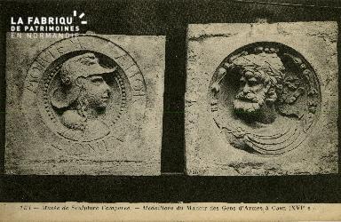 Cl 08 229 Caen Musée de Sculpture comparée Médaillons du Manoir des Ge