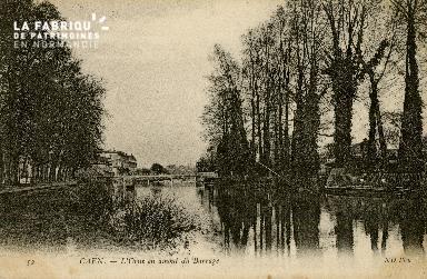 Cl 08 232 Caen l'Orne en amont du Barrage