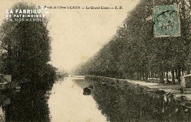 Cl 08 233 Caen les Bords de l'Orne le Grand Cours