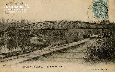 Cl 08 240 Caen les Bords de l'Orne le Pont de l'Ecole