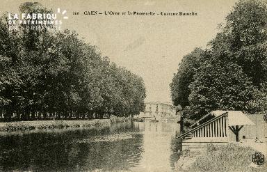 Cl 08 241 Caen l'Orne et la Passerelle Caserne Hamelin