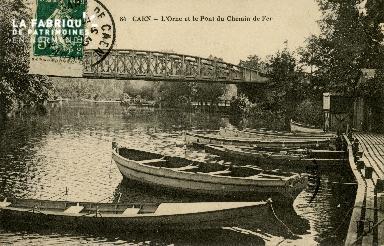 Cl 08 260 Caen l'Orne et le Pont de Chemin de Fer