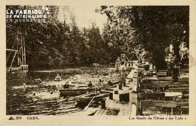 Cl 08 262 Caen les Bord de l'Orne au Lido
