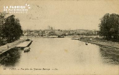 Cl 08 282 Caen vue prise du Nouveau Barrage