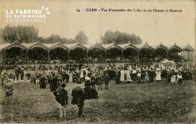 Cl 08 301 Caen Vue d'Ensemble des Tribunes du Champ de Courses