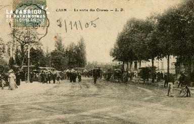Cl 08 312 Caen la Sortie des Courses