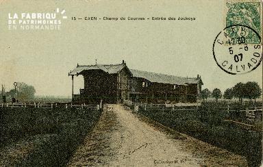Cl 08 313 Caen Champ de Courses Entrée des Jockeys