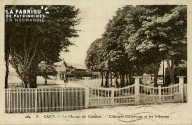 Cl 08 314 Caen le Champ de Courses l'Entrée du Pesage et les Tribunes