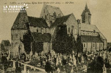 Cl 08 325 Caen l'ancienne Eglise St Nicolas XIè s.