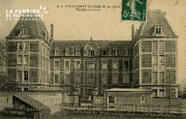 Cl 08 372 Caen Pensionnat St Joseph Façade Principale