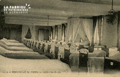 Cl 08 373 Caen Pensionnat St Joseph un Dortoir