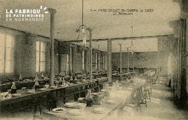 Cl 08 375 Caen Pensionnat St Joseph un Réfectoire