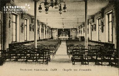 Cl 08 386 Caen Pensionnat St Joseph Chapelle vue d'Ensemble