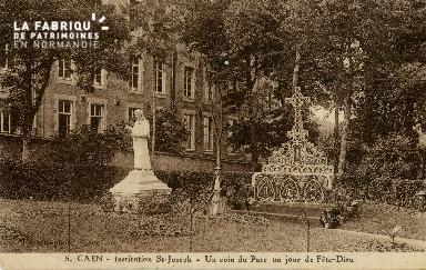Cl 08 387 Caen Déposant : Déposant : institution St Joseph un coin du Parc un jour de Fête-D