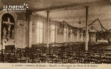 Cl 08 388 Caen Déposant : Déposant : institution St Joseph Chapelle et Monument aux Morts de