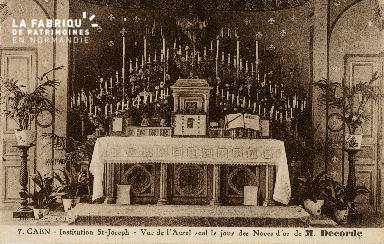 Cl 08 389 Caen Déposant : Déposant : institution St Joseph vue de l'Autel seul le jour des n