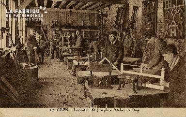 Cl 08 396 Caen Déposant : Déposant : institution St Joseph Atelier de Bois