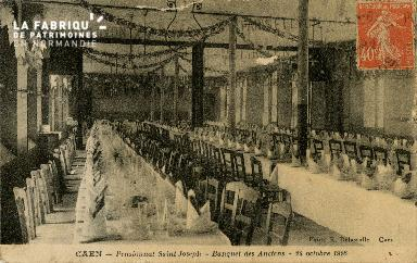 Cl 08 402 Caen Pensionnat St Joseph Banquet des Anciens 24 octobre 192