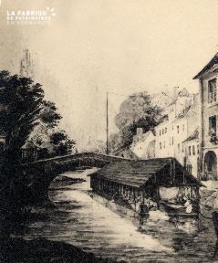 Pont de la Préfecture (loa rue St Laurent) - Lasne - 1832