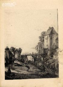 Porte de Secours (ou des Champs) du Château - Lasne - 1839