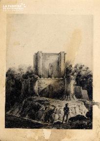 Reconstitution du Donjon du Château démoli en 1793 - Lasne - 1