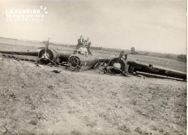 Dornier abattu au carrefour La France avril 1941
