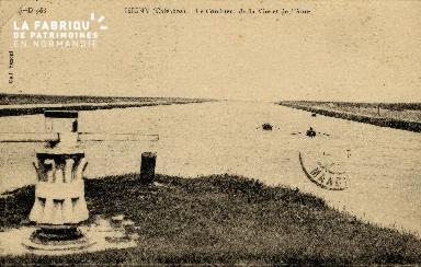 Isigny sur Mer   Le confluent de la Vire et de l'Aure