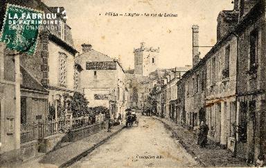 Dives - L'église - La rue de Lisieux