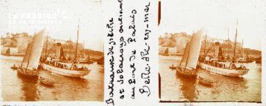 B001 Belle-Ile-en-Mer, bateaux de pêche et Solacroup au port de Palais