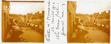 B001 Fête à Harcourt, grande rue, 12 août 1906