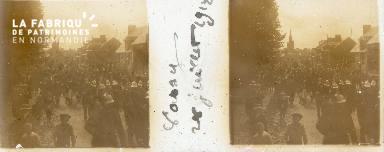 Vassy, défilé fête 28 juillet 1912
