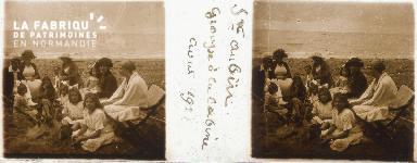 B004 St-Aubin, groupe à la cabine avril 1921