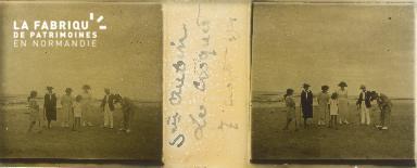 B004 St-Aubin, le croquet 7 aout 1921