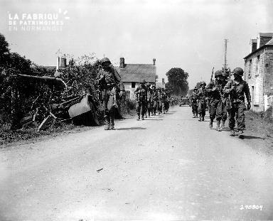 Avancée des troupes alliés à Folligny