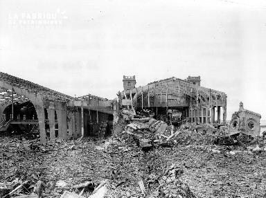Les ruines de la gare maritime de Cherbourg
