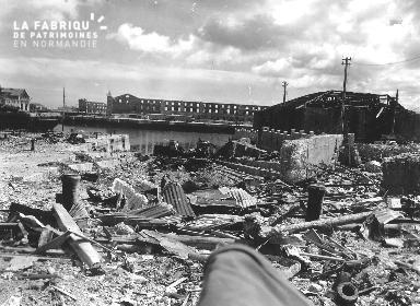 Port de Cherbourg détruit