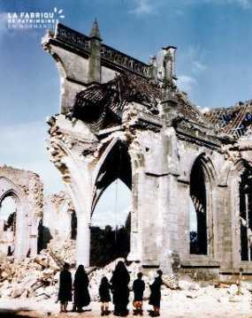 Ruines de l'église Saint-Malo à Valognes