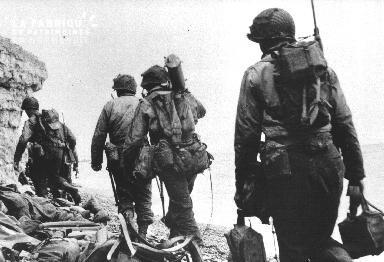 Soldats américains à Omaha Beach