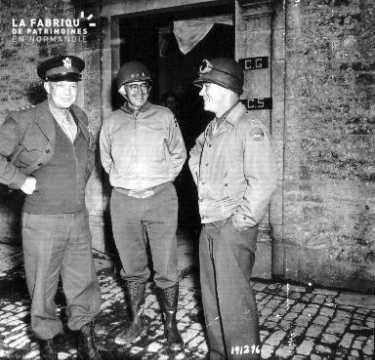 Portrait des généraux Eisenhower, Collins et Bradley