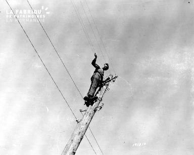 Travaux sur les cables électriques à Carentan