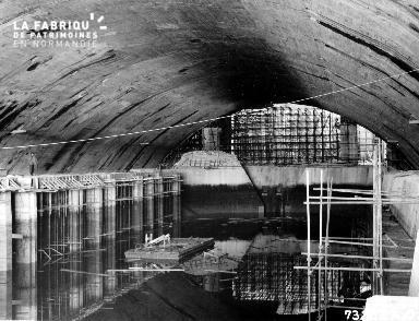 Intérieur d'un bunker à Cherbourg