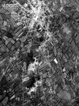 Vue aérienne de Valognes