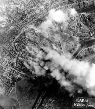 Bombardements à Caen